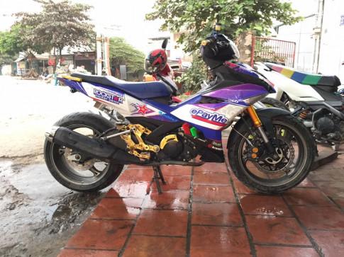 Exciter 150 do dan chan full option PKL cuc chat cua biker Ha Noi