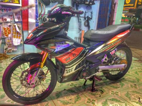 Exciter 150 do day sang choi cua Biker Binh Phuoc