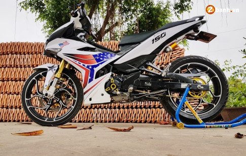 Exciter 150 do don tet 2018 voi Version moi day ham ho cua biker Long Xuyen