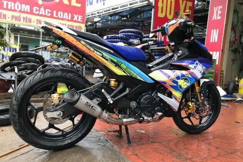 Exciter 150 do ham ho voi bo gap Yamaha R6 cua biker Thai Nguyen