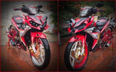 Exciter 150 độ siêu ngầu với mặt nạ mang phong cách H2 của biker Hà Nội