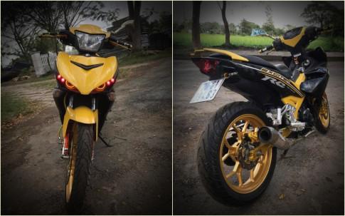Exciter 150 do tang dong nhe voi khoi do choi tone vang cua biker Tay Ninh