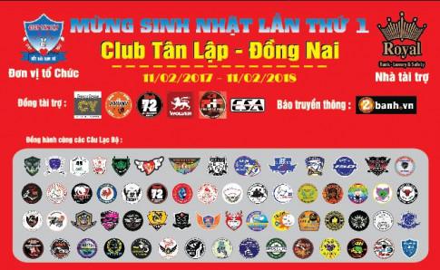Hơn 60 CLB xe đổ về mừng Club Exciter Tân Lập - Đồng Nai tròn I tuổi