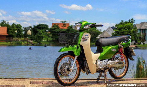 Honda Cub Fi do voi ve dep don gian do dang ben bo ho