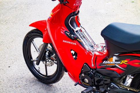Honda Wave 125 độ nhức đầu với dàn đồ chơi phong cách quý tộc