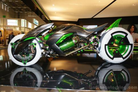 Lo dien Trailer video ve ban Kawasaki concept J - mau xe dien tuong lai