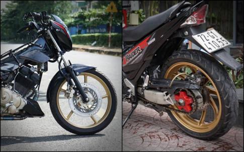 Raider 150 do dan chan day co bap voi gap NSR cua biker Viet