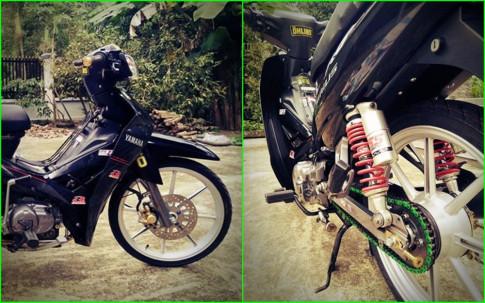 Sirius 110 do dan chan cung cap voi mam Racing boy cua biker Kien Giang