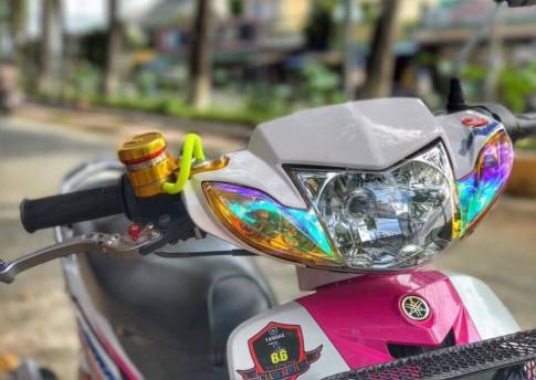 Sirius 110 độ đáng yêu với sắc hồng nổi bật của biker Đồng Tháp