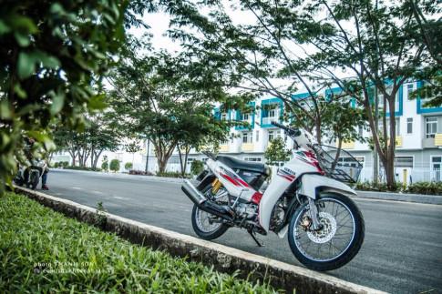 Sirius 110 do - khoe dang dau nam cua Biker Kien Giang