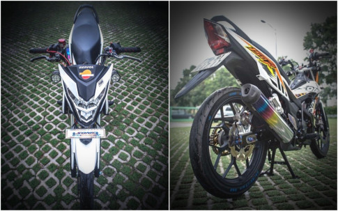 Sonic 150 do chat ngat ngay voi loat do choi cua biker Tay Ninh