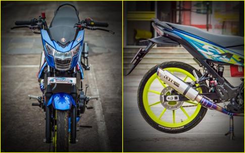 Suzuki Satria F150 do chat ' ngat ngay ' voi do choi gia tri cua biker Viet