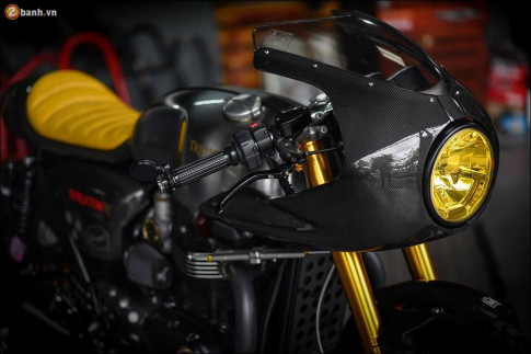 Triumph Thruxton R kich thich nguoi xem qua 'Chat' Cafe Racer