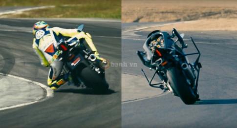 Valentino Rossi chiến thắng MotoBot trong gang tấc