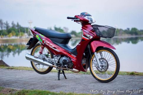 Wave 125i do don gian voi ve dep ngat ngay cua biker Thailand