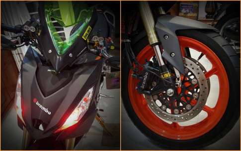 Winner 150 do dan chan full option PKL sieu dep cua biker Viet