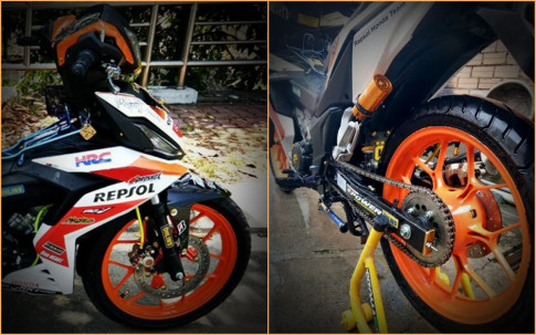 Winner 150 do leng keng voi bo canh Repsol dam chat the thao