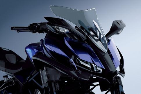 Yamaha MWT-9 mau moto 3 banh doc dao vua duoc he lo
