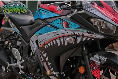 Yamaha R3 thoat xac day an tuong voi dien mao moi mang ten ' Angry Shark '