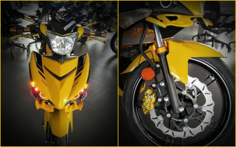 Yamaha Y15ZR do noi bat voi sac vang ca tinh cua biker nuoc ban