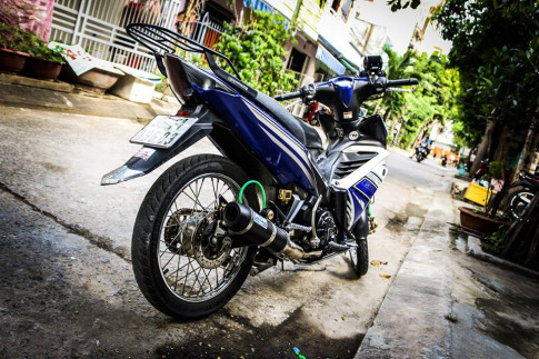 Exciter 135 do kieng nhe gan bo 6 nam cung biker Quang Nam