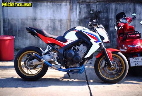 Honda CB650F ban nang cap don gian suc tich den tu Biker Thai