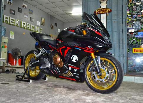 Honda CBR650F ban do hap dan voi phong cach BMW S1000RR