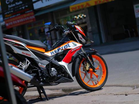 Honda Sonic 150R do dam chat the thao trong phien ban Repsol