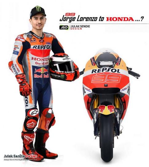 Lorenzo chinh thuc ve doi dua Honda Repsol Racing Team vao MotoGP 2019