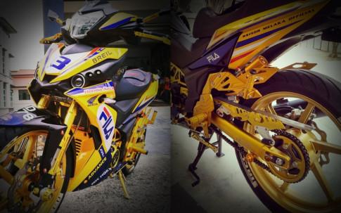 RS150 do voi option do choi tone vang choi loa cua biker Malaysia