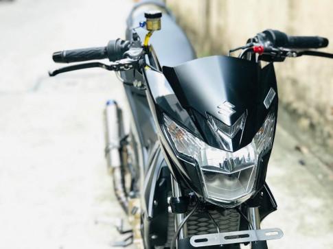 Satria F150 - Manh thu Toc do duoc trang bi dan do choi hang hieu cua tay choi Sai Gon
