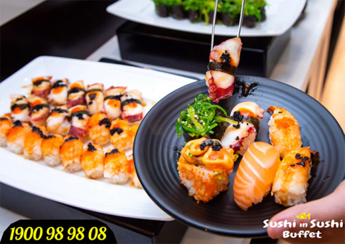 Sushi in Sushi - buffet sushi tha ga gia chi tu 199.000d