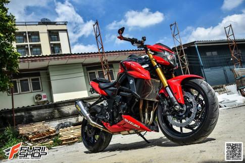 Suzuki GSX-S750 ban do nhe nhang loi cuon cua Biker Thai