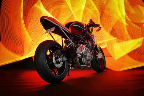 Yamaha TRX850 vẻ đẹp hầm hố từ hình thái Cafe Racer