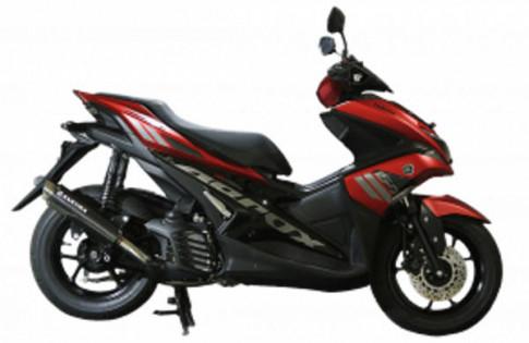 Aerox 155 trang bị óng xả Sakura chính thúc bán tại hãng Yamaha Indonesia