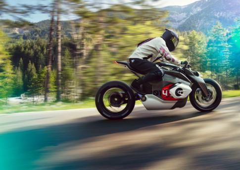 BMW Motorrad gay 'chan dong' voi mau xe dien Vision DC Roadster