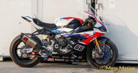 Chiem nguong dan cong nghe cua BMW S1000RR 2019 WSBK Racing tai truong dua Chang International