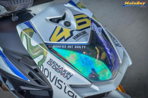Cygnusx 125 độ đậm chất thể thao với bộ cánh Movistar của biker xứ Đài