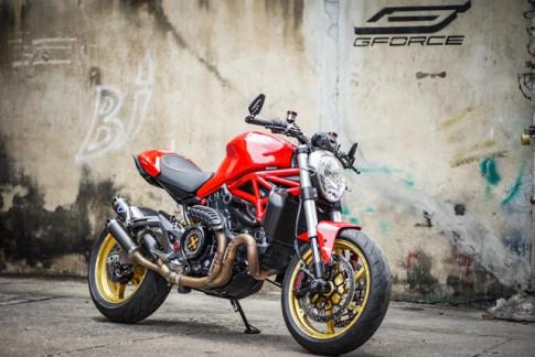 Ducati Monster 821 'ga quai vat' mang day cong nghe