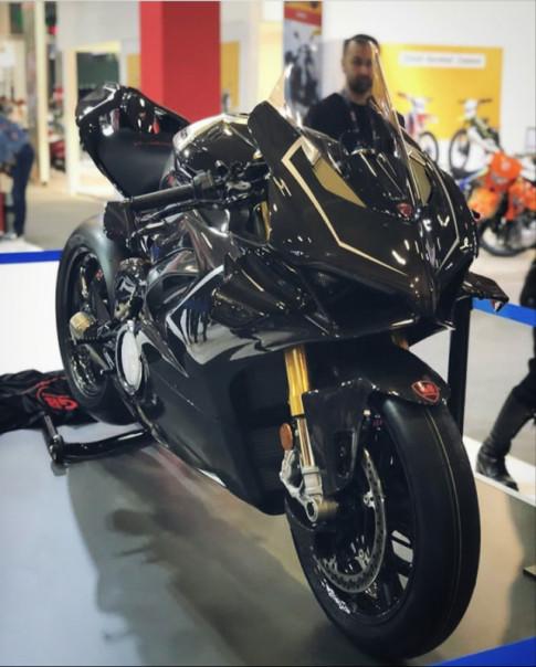 Ducati Panigale V4R Carbon - Dinh dang Ca map 2019 voi trang bi full body Carbon