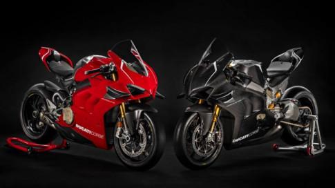 Ducati V4R Panigale 2019 ra mat voi bo canh Carbon dac trung moi