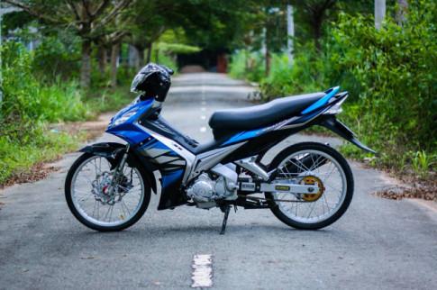 Exciter 135 độ lột xác với tông màu xanh dương yêu thương