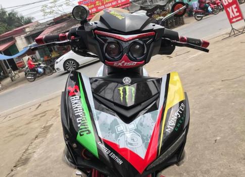 Exciter 150 do day mau lua voi dan chan hap dan cua biker Phu Tho