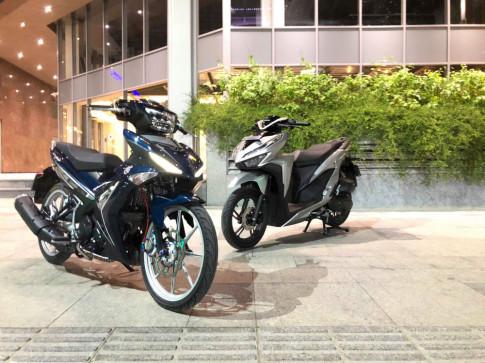Exciter 150 do hap dan voi bo ao 'xanh nhot' cua biker Sai Gon