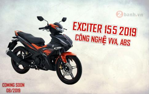 Exciter 155 2019 trang bị VVA, ABS sẽ ra mắt vào tháng 8 năm nay