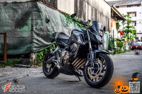 Honda CB650F Cá tính hơn với gói trang bị ghi-đông hiện đại