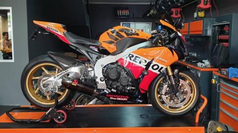 Honda CBR1000RR độ hầm hố với dàn chân chắc như bắp