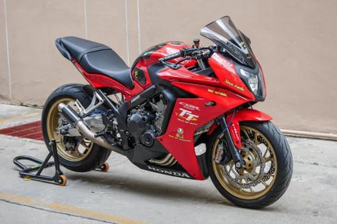 Honda CBR650F ban do day nhiet huyet den tu tong mau Red Sporty