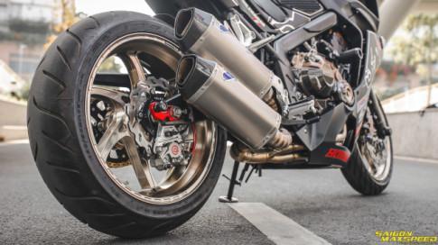 Honda CBR650F do khung nhat Viet Nam sau hon 2 thang thuc hien