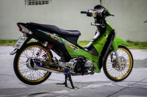 Honda Wave 125i khoe ca tinh trong ban do day mau sac dam chat Thailand